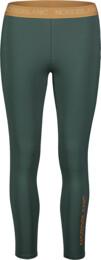 Colanți verzi de fitness pentru femei FLEXIBILITY