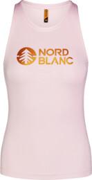 Růžové dámské fitness tílko BALM