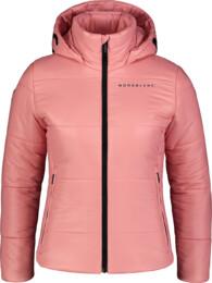 Rózsaszín női steppeltkabát PUFF